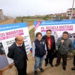 VES: Entregan obras de rehabilitación en Avenida Micaela Bastidas