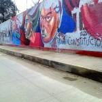 Historia de Villa el Salvador será representada en fachada del Colegio 6066