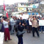 Pobladores marcharon en señal de protesta por contaminación del río Lurín