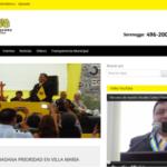 Critican a alcalde por pintar el municipio del color de su partido