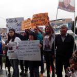 Protestan frente a Municipalidad para exigir más seguridad