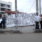 Trabajadores despedidos de la UNTELS exigen reposición de sus cargos