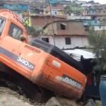 Vivienda quedó destrozada por negligencia de conductor de maquinaria pesada