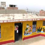 Niños y niñas del PRONOEI en zona de Víctor Chero estudian en precarias condiciones