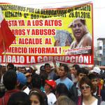 Vecinos se unen a protesta contra la gestión del alcalde Carlos Palomino