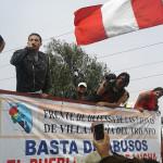 Jóvenes se unieron a la protesta contra la gestión de Carlos Palomino