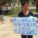 Regidor Fabián Rivera solicita mantenimiento de Parque Miguel Grau