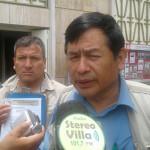 Pobladores realizaron plantón ante el JNE y entregaron memorial sobre vacancia de alcalde Carlos Palomino