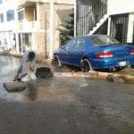 Por segunda vez en la semana, punto de agua colapsa en el sector 6 grupo 1