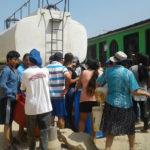 """Pobladores de """"Balcón del Paraíso"""" lograron ingresar cisterna para abastecerse de agua potable"""