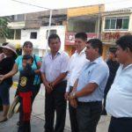 Autoridades inspeccionan obras en complejo comercial de la Curva De Nueva Esperanza