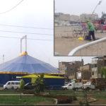 Circo de artista invade ciclovía de Villa El Salvador