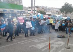 Pobladores protestan por supuesto tráfico de terrenos