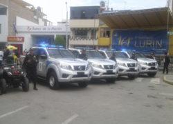 Lurín: Alcalde Arakaki en 161 aniversario, presenta nuevas unidades para la seguridad ciudadana
