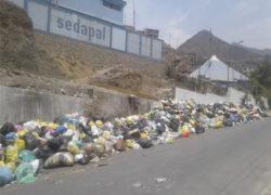 Villa María del Triunfo: Dirigenta pide que recojan cerca de mil toneladas de basura en sector  José Carlos Mariátegui