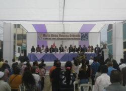 Villa El Salvador conmemoró el 26 aniversario de la desaparición de María Elena Moyano