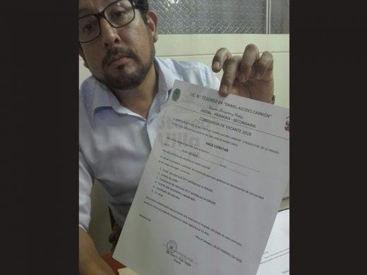 Villa el Salvador: Director de colegio Daniel Alcides Carrión acusado de condicionar matrículas en pago de APAFA