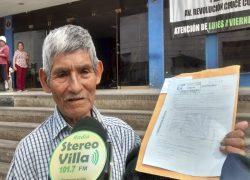 Adulto mayor pide a alcalde de Villa El Salvador ser exonerado en pago de tributos
