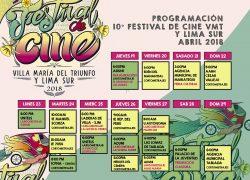 Próxima inauguración del X Festival de Cine Villa María del Triunfo y Lima Sur 2018