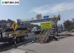 """Piden que puente peatonal """"Mecánica""""de la Panamerica Sur se convierta en paradero"""