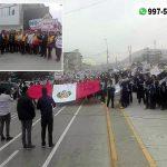 Delegaciones sociales y la Policía Nacional participaron en «Marcha por la Paz» en Villa El Salvador