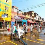 MINAGRI realiza trabajo de desinfección en mercado Caquetá